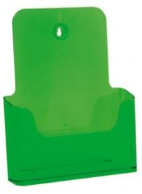 Stojánek na letáky formátu A4, neon zelený