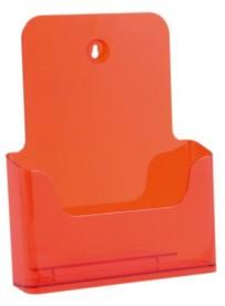Stojánek na letáky formátu A4, neon oranžový