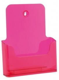 Stojánek na letáky formátu A4, neon červený