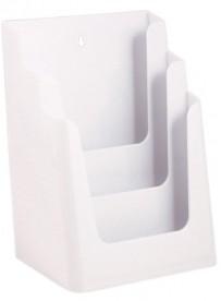 Stojánek na letáky formátu A4, 3 kapsy, bílý