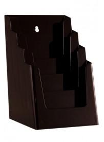 Stojánek na letáky formátu A5, 4 kapsy, černý