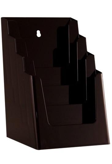 Jansen Display Stojánek na letáky formátu A5, 4 kapsy, černý