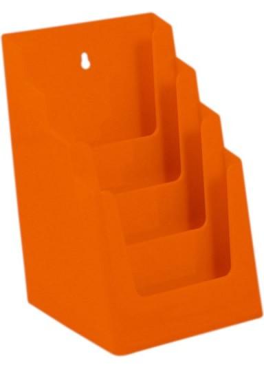 Jansen Display Stojánek na letáky formátu A5, 4 kapsy, oranžový