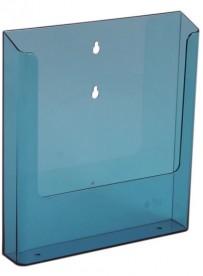 Nástěnný zásobník na letáky formátu A4, neon modrý