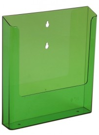Nástěnný zásobník na letáky formátu A4, neon zelený