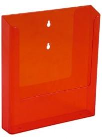 Nástěnný zásobník na letáky formátu A4, neon oranžový