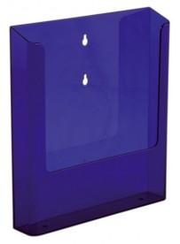 Nástěnný zásobník na letáky formátu A4, neon fialový