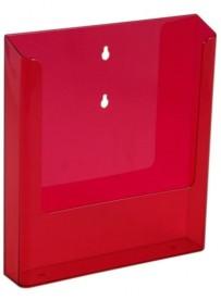 Nástěnný zásobník na letáky formátu A4, neon červený