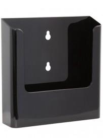 Nástěnný zásobník na letáky formátu A5, černý
