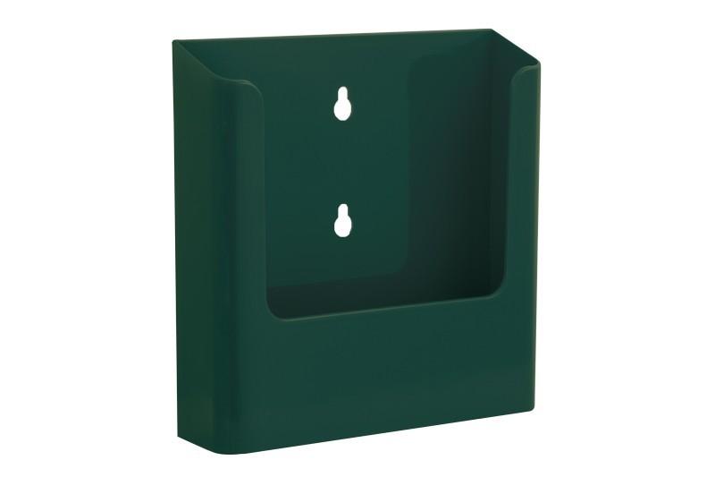 Jansen Display Nástěnný zásobník na letáky formátu A5, zelený