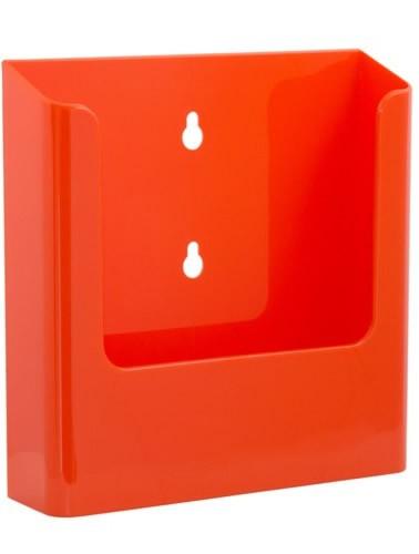 Jansen Display Nástěnný zásobník na letáky formátu A5, oranžový