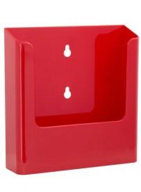 Nástěnný zásobník na letáky formátu A5, červený