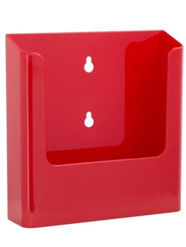 Jansen Display Nástěnný zásobník na letáky formátu A5, červený