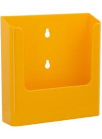 Nástěnný zásobník na letáky formátu A5, žlutý