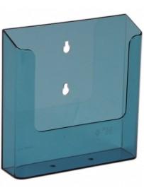 Nástěnný zásobník na letáky formátu A5, neon modrý