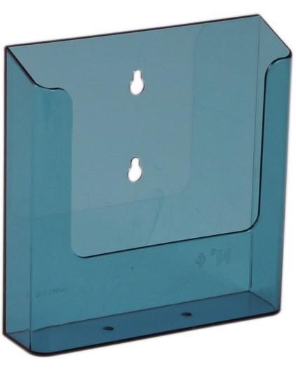 Jansen Display Nástěnný zásobník na letáky formátu A5, neon modrý