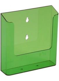 Nástěnný zásobník na letáky formátu A5, neon zelený