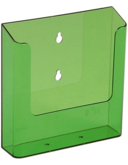 Jansen Display Nástěnný zásobník na letáky formátu A5, neon zelený