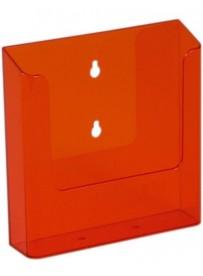 Nástěnný zásobník na letáky formátu A5, neon oranžový