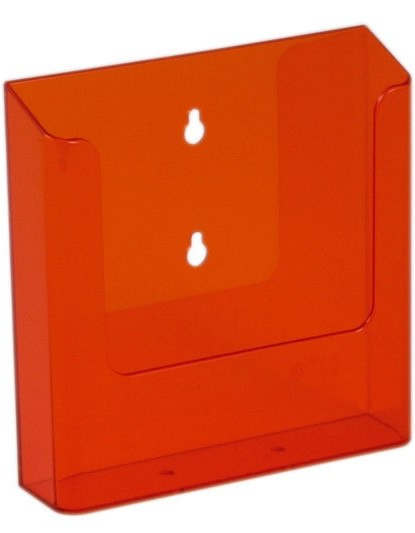 Jansen Display Nástěnný zásobník na letáky formátu A5, neon oranžový