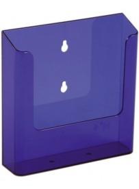 Nástěnný zásobník na letáky formátu A5, neon fialový