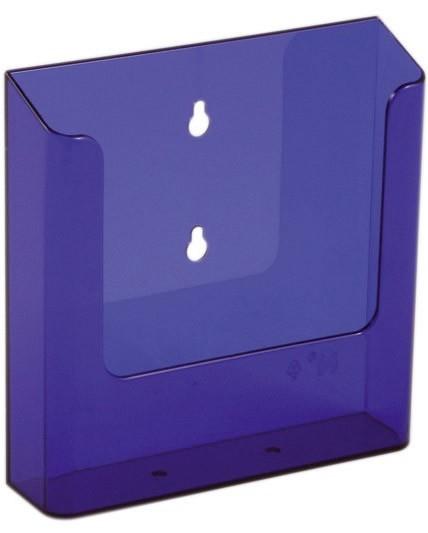 Jansen Display Nástěnný zásobník na letáky formátu A5, neon fialový