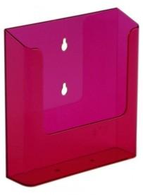 Nástěnný zásobník na letáky formátu A5, neon červený