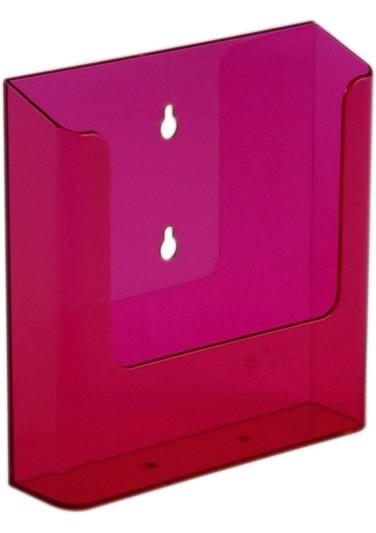 Jansen Display Nástěnný zásobník na letáky formátu A5, neon červený