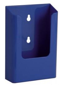 Nástěnný zásobník na letáky formátu DL (1/3A4), modrý