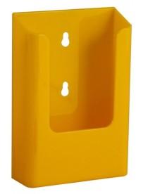 Nástěnný zásobník na letáky formátu DL (1/3A4), žlutý