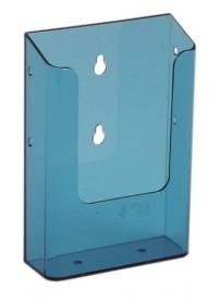 Nástěnný zásobník na letáky formátu DL (1/3A4), neon modrý