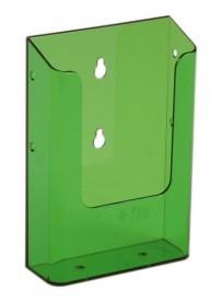 Nástěnný zásobník na letáky formátu DL (1/3A4), neon zelený