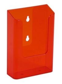 Nástěnný zásobník na letáky formátu DL (1/3A4), neon oranžový