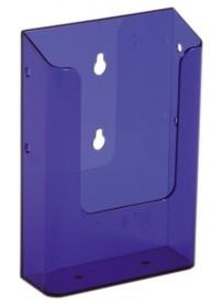 Nástěnný zásobník na letáky formátu DL (1/3A4), neon fialový