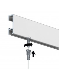 Nástěnný závěsný systém CR 3000 mm, barva ELOX