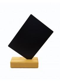 Stolní stojánek na menu A5, bílý + křídový popisovač