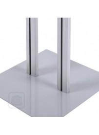 hliníkové nohy a kovová základna