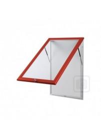 Venkovní vitrína SC T 4xA4, červená barva