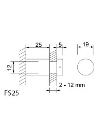 Dvojité plexi A1 včetně 4ks distančních šroubů pr. 19 mm