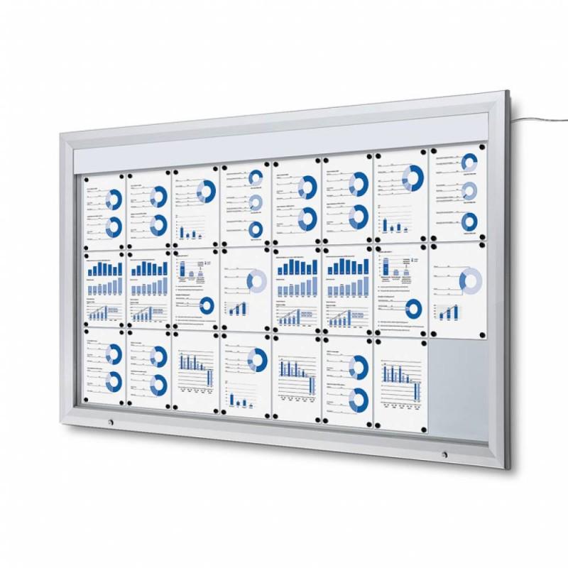 Venkovní vitrína SC T 24xA4, LED podsvícení