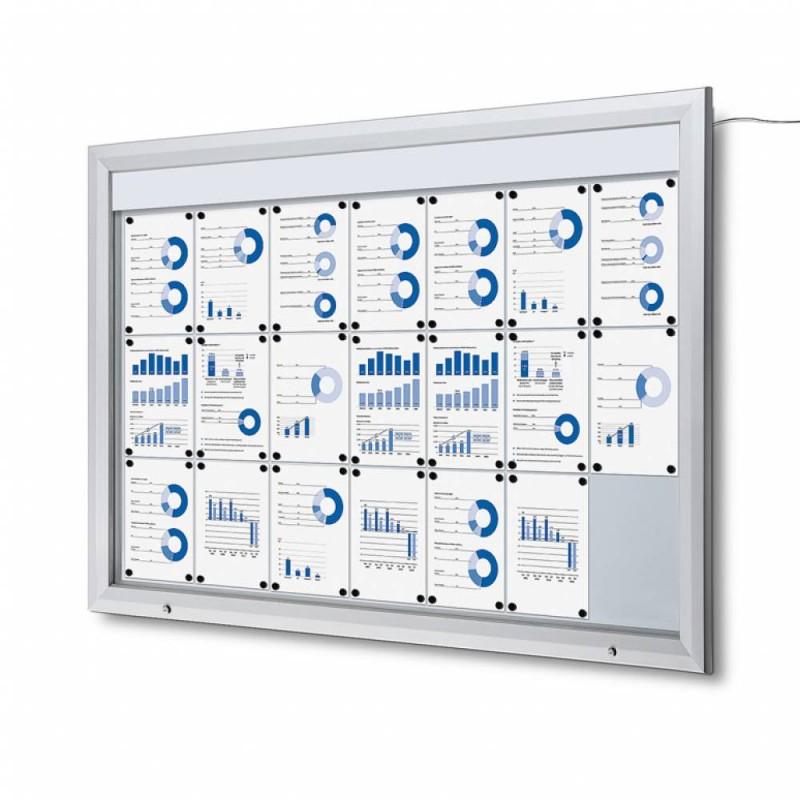 Venkovní vitrína SC T 21xA4, LED podsvícení