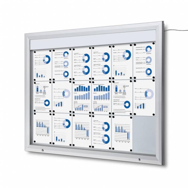Venkovní vitrína SC T 18xA4, LED podsvícení