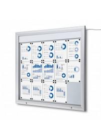 Venkovní vitrína SC T 15xA4, LED podsvícení