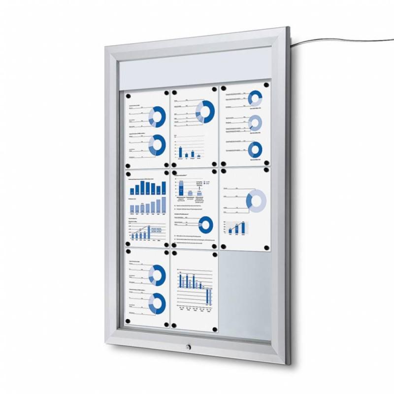 Venkovní vitrína SC T 9xA4, LED podsvícení