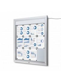 Venkovní vitrína SC T 12xA4, LED podsvícení