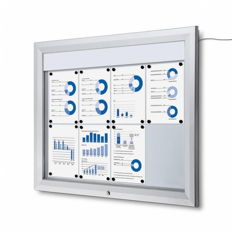 Venkovní vitrína SC T 8xA4, LED podsvícení
