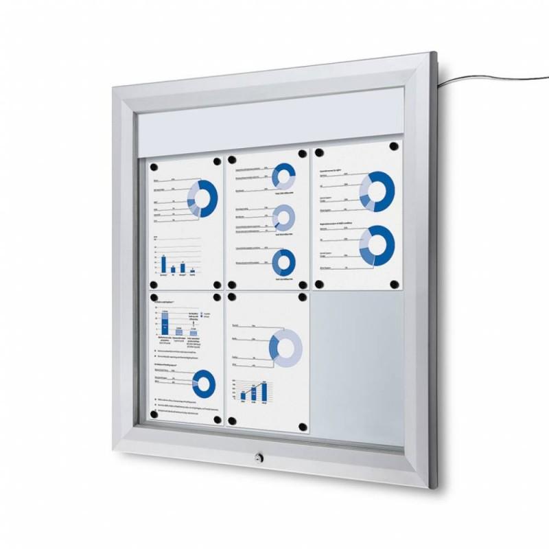 Venkovní vitrína SC T 6xA4, LED podsvícení