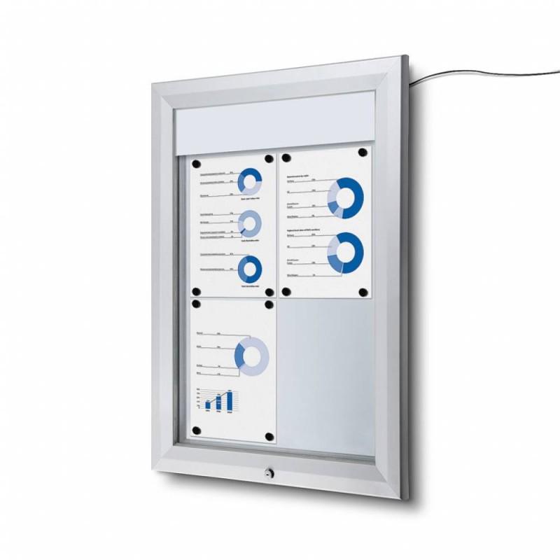Venkovní vitrína SC T 4xA4, LED podsvícení