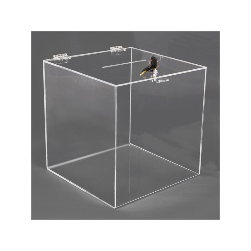 6991d1f3b91be Box na losy a vizitky 200x200x200 mm, uzamykatelný | shop.travelpromo.cz